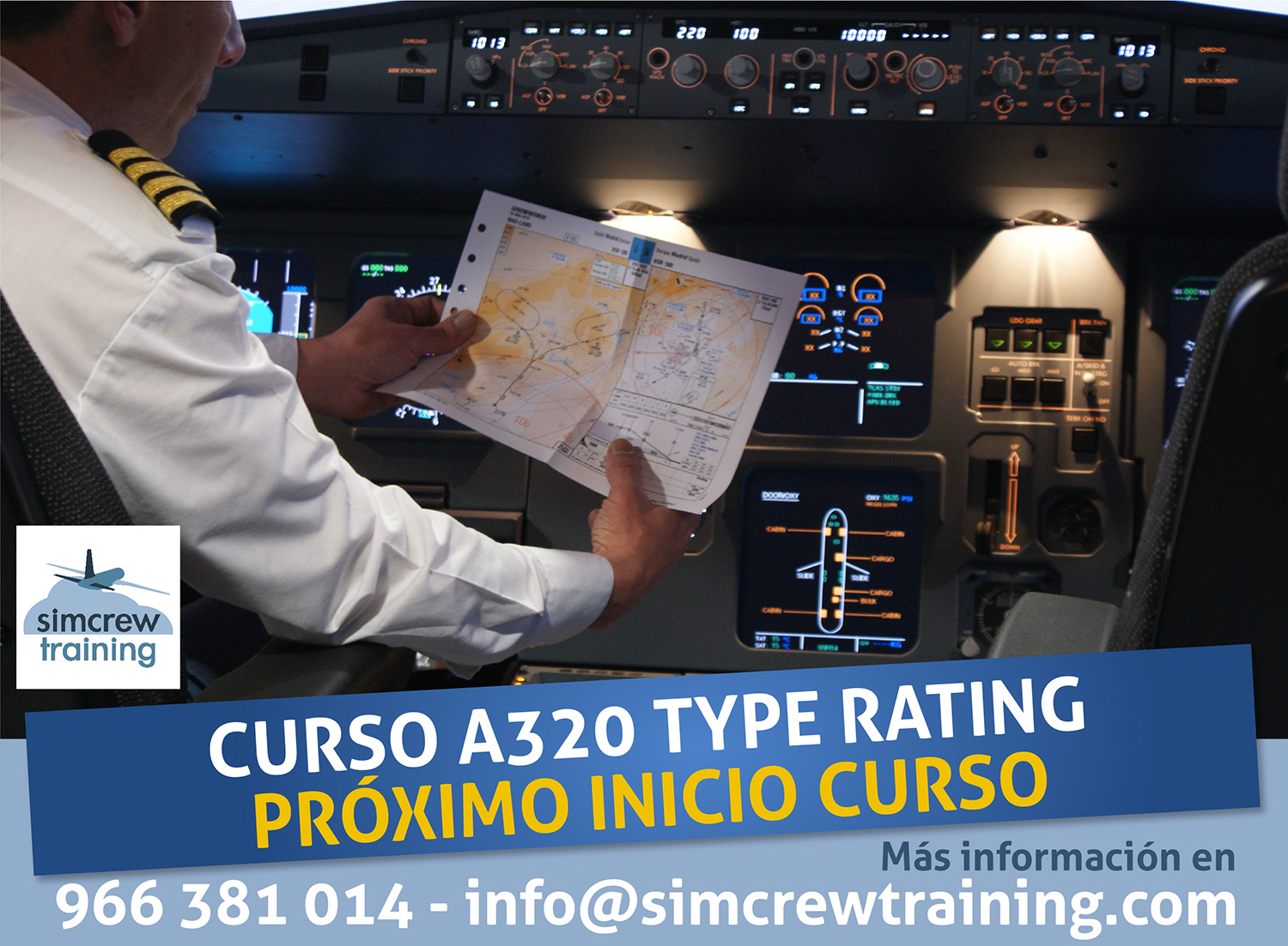 A320 Type Rating - Habilitación de Tipo A320 - Simcrew Training